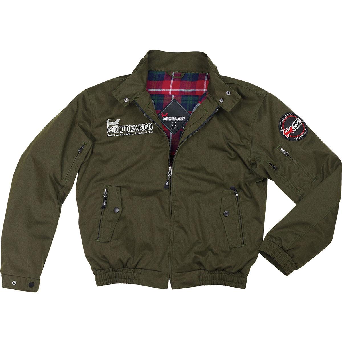 コミネ (Komine) バイク用 ジャケット Jacket JK-591 プロテクトスイングトップジャケット ダーク オリーブ Lサイズ 07-591/OL/L