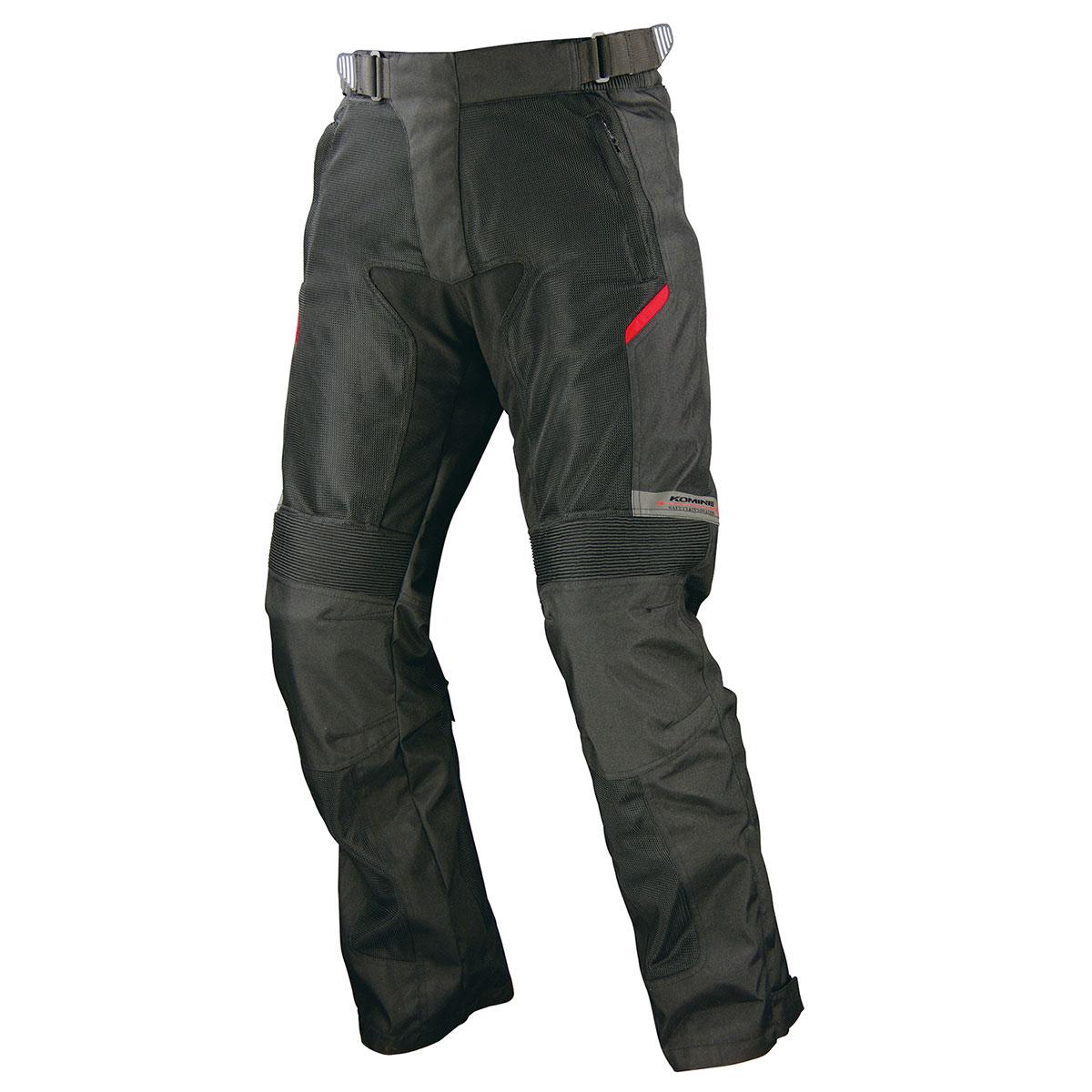 コミネ (Komine) バイク用 パンツ Pants PK-707 フルアーマードメッシュパンツ ラグーザ ブラック 黒 MTサイズ 07-707/BK/MT