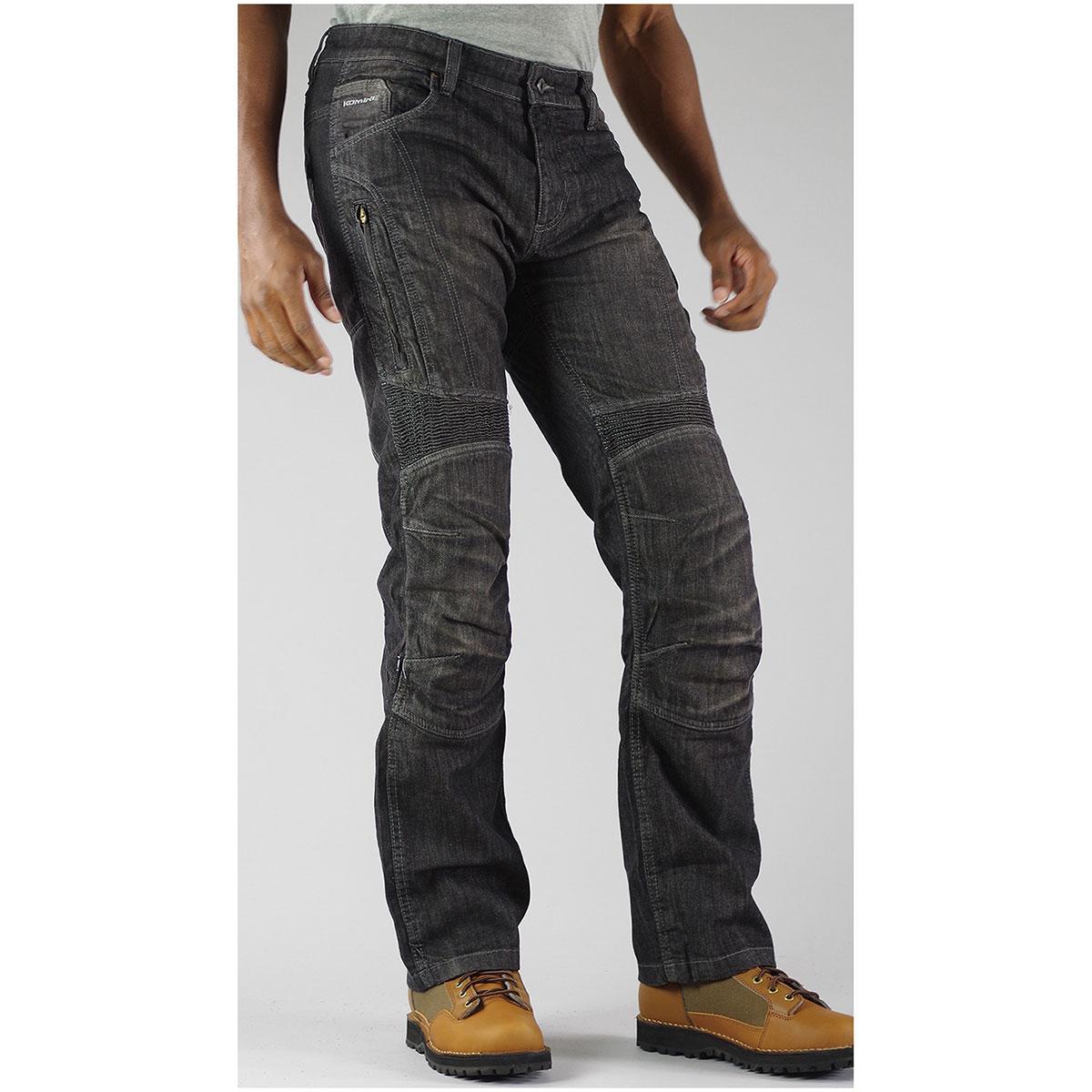 コミネ (Komine) バイク用 パンツ Pants WJ-731S フルイヤー KV ジーンズ ブラック 黒 XLサイズ 07-731/BK/XL/34