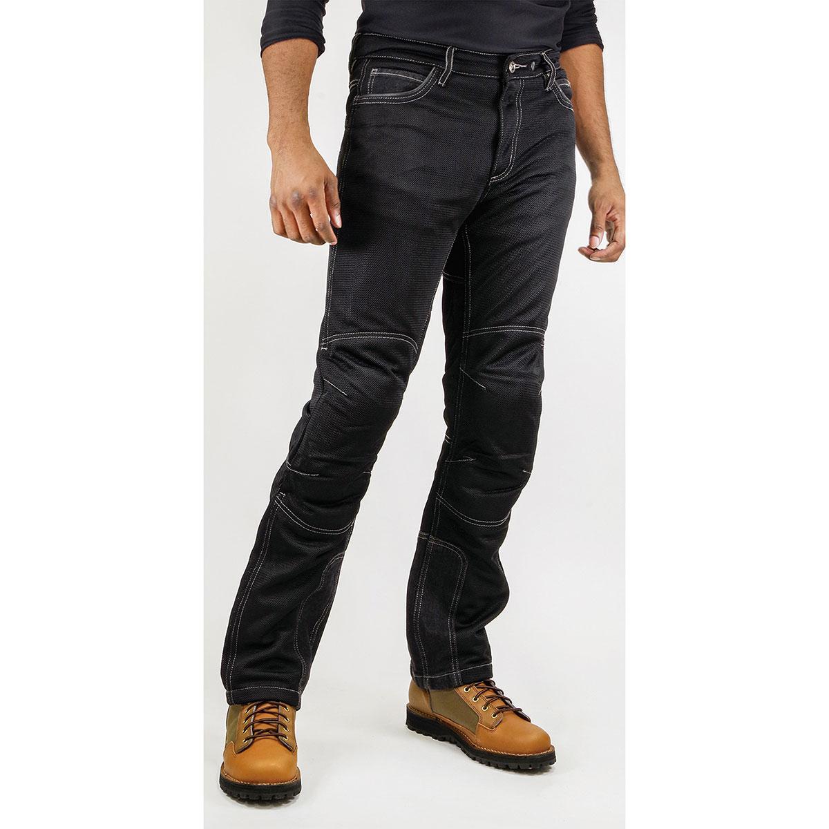 コミネ Komine バイク用 パンツ Pants WJ-740R ライディングメッシュジーンズ 黒 BK 34 XLサイズ 07-740 倉 ブラック 毎日がバーゲンセール XL