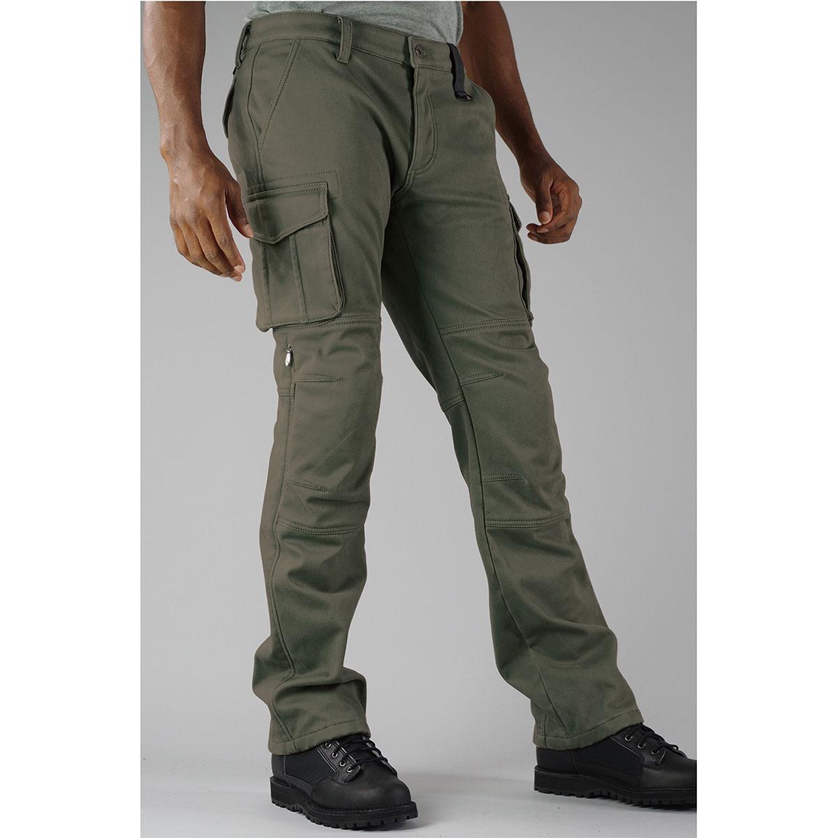 コミネ (Komine) バイク用 パンツ Pants PK-919 ウインドプルーフウォームカーゴパンツ ダーク グリーン 緑 Mサイズ 07-919/D.GR/M