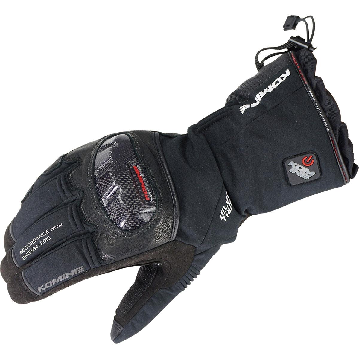 コミネ (Komine) バイク用 エレクトリック ヒートギア Electric heat gear 電熱 EK-200 カーボンプロテクトエレクトリックグローブ ブラック 黒 2XLサイズ 08-200/BK/2XL