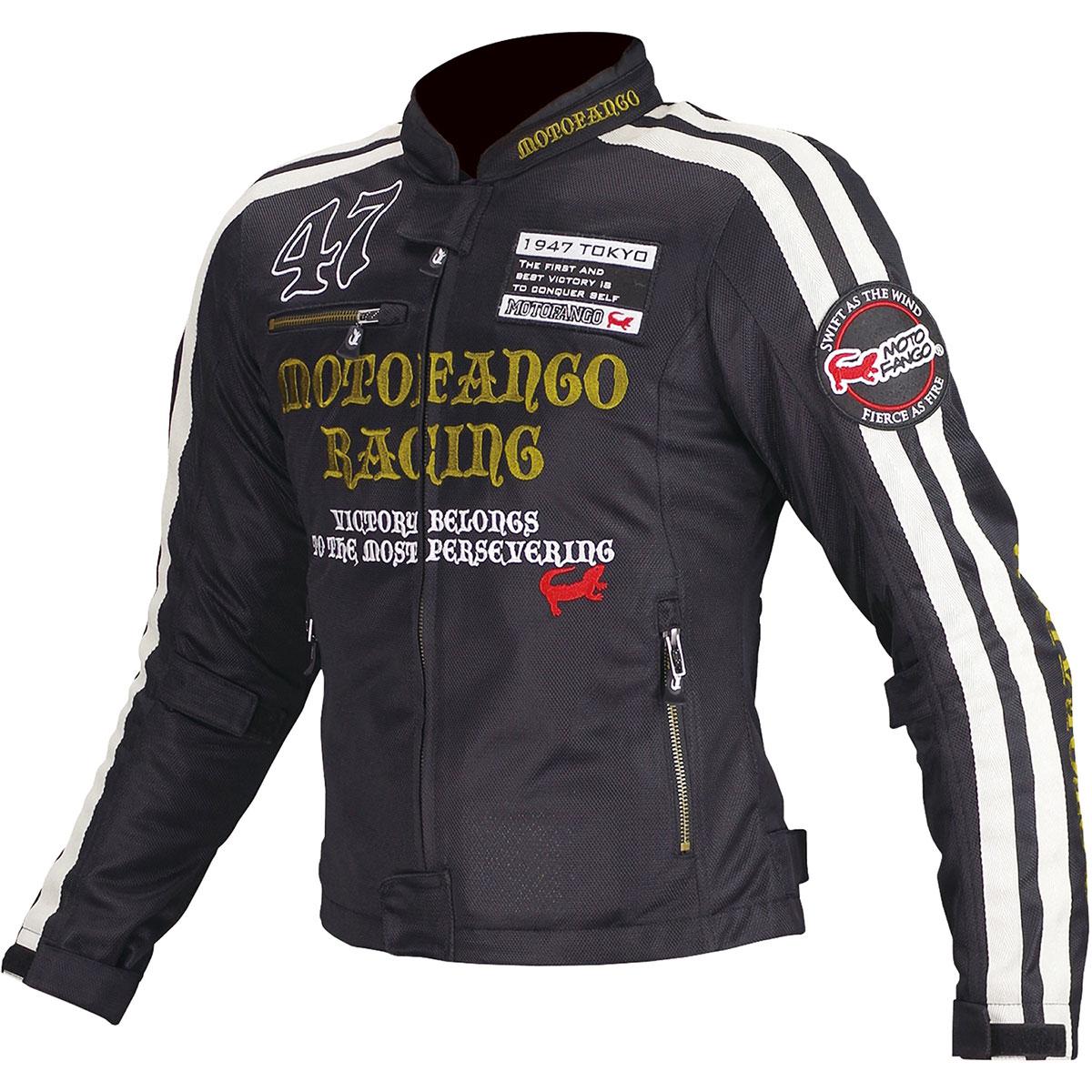 コミネ (Komine) バイク用 ジャケット Jacket MJ-003 ダブルラインメッシュジャケット ブラック ゴールド 黒 金 Sサイズ 17-003/BK/GD/S