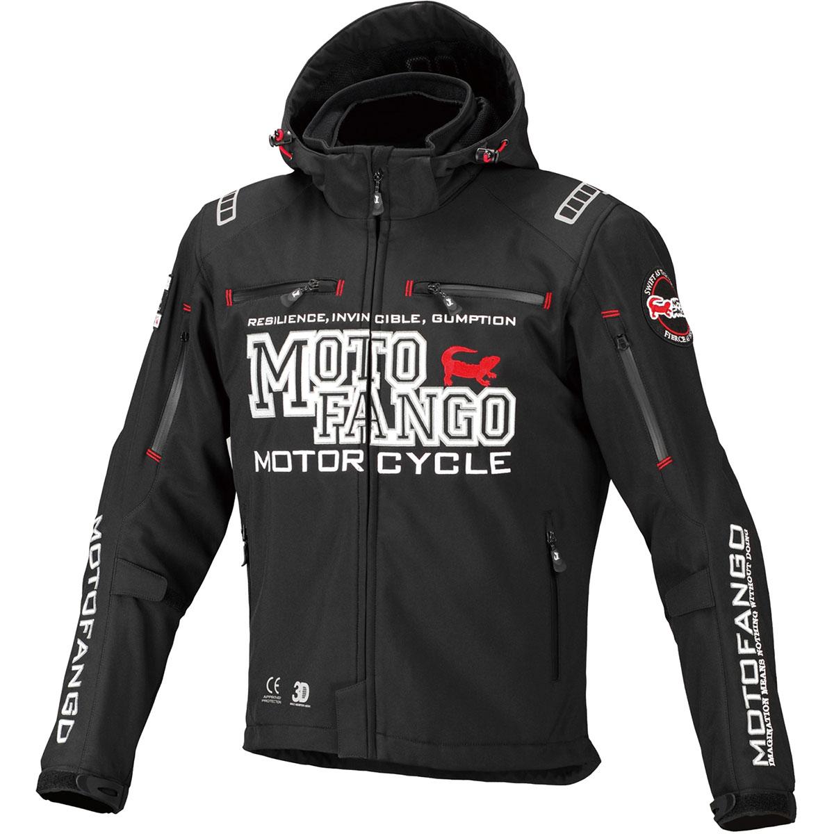 コミネ (Komine) バイク用 ジャケット Jacket MJ-005 ソフトシェルウインターパーカ ブラック 黒 Mサイズ 17-005/BK/M