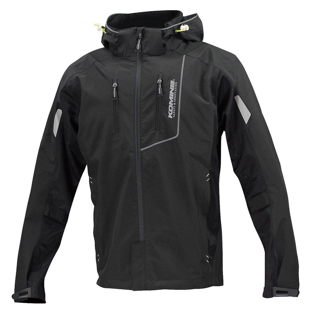コミネ (Komine) バイク用 ジャケット Jacket JK-112 プロテクトハーフメッシュパーカ ゲンリ ブラック 4XLサイズ 07-112/BK/4XL