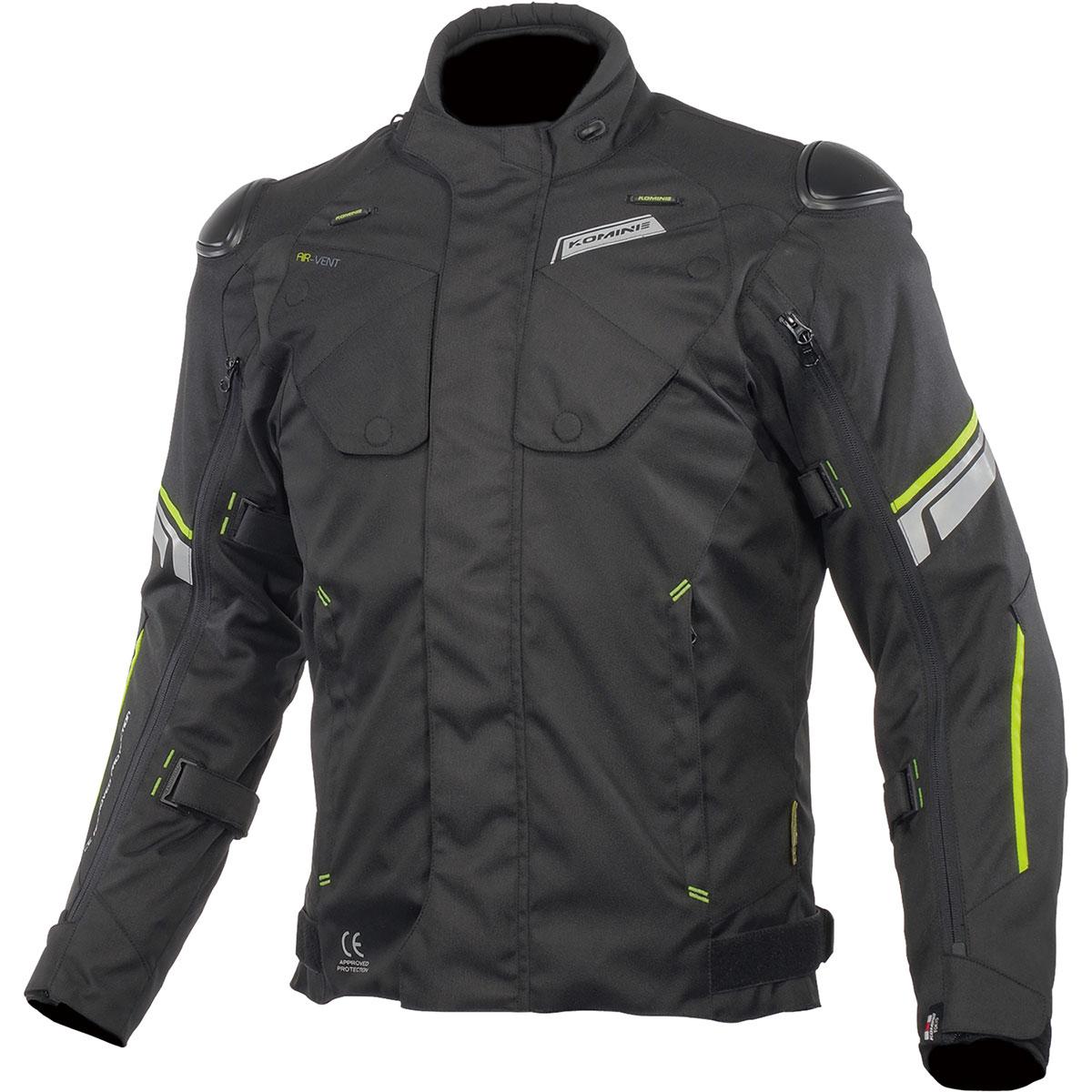 コミネ (Komine) バイク用 ジャケット Jacket JK-598 プロテクトフルイヤージャケット ブラック Lサイズ 07-598/BK/L