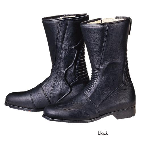 コミネ (Komine) バイク用 フットウェア シューズ ブーツ footwear Shoes Boots スパジオ 520ワイドブーツ ブラック 黒 25.5cm 05-103/BK/25.5