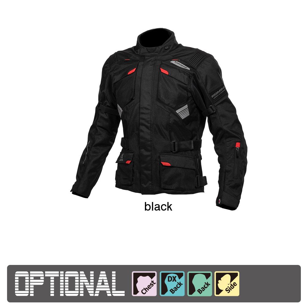 Mサイズ ジャケット 黒 コミネ バイク用 ブラック Jacket 07-142/BK/M JK-142 (Komine) プロテクトアドベンチャーメッシュジャケット
