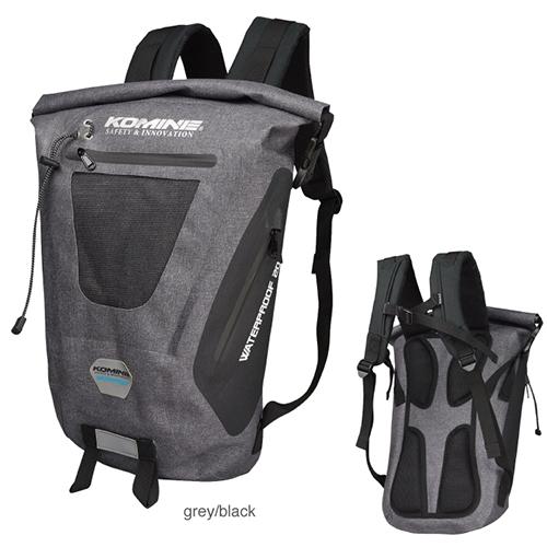 コミネ (Komine) バイク用 アクセサリー Accessories SA-236 ウォータープルーフバックパック20 グレイ ブラック 灰色 黒 09-236/GY/BK/20L