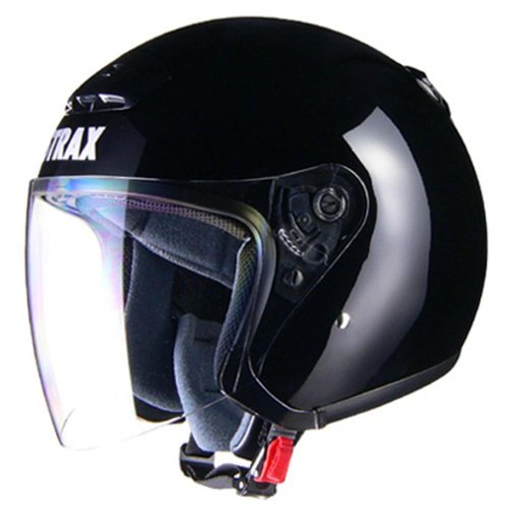 リード工業 ジェットヘルメット STRAX SJ-4 ブラック BIGサイズ (63-64cm未満)