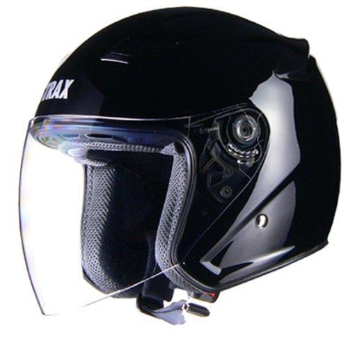 リード工業 ジェットヘルメット STRAX SJ-8 ブラック Lサイズ (59-60cm未満)