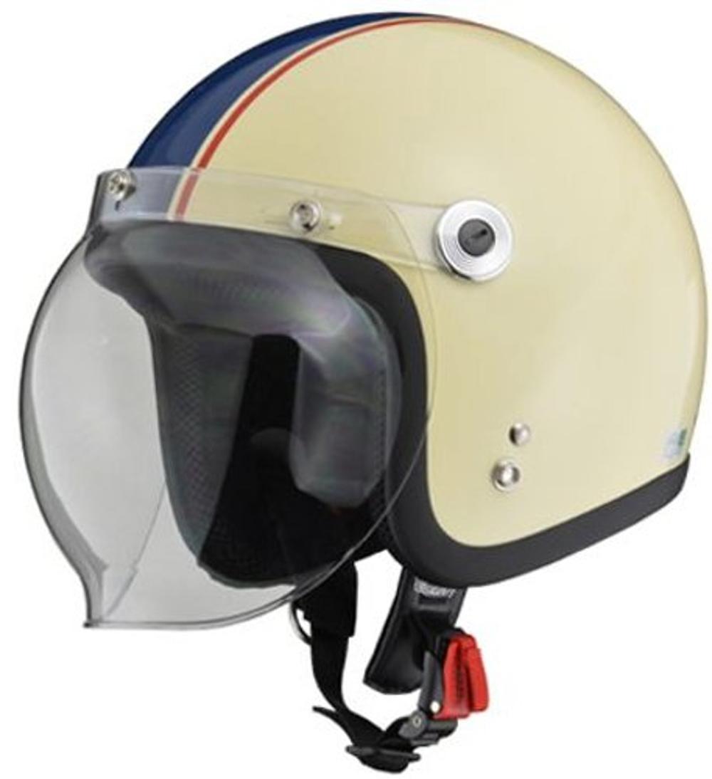 リード工業 ジェットヘルメット BARTON BC-10 アイボリー/ネイビー フリーサイズ (57-60cm未満)