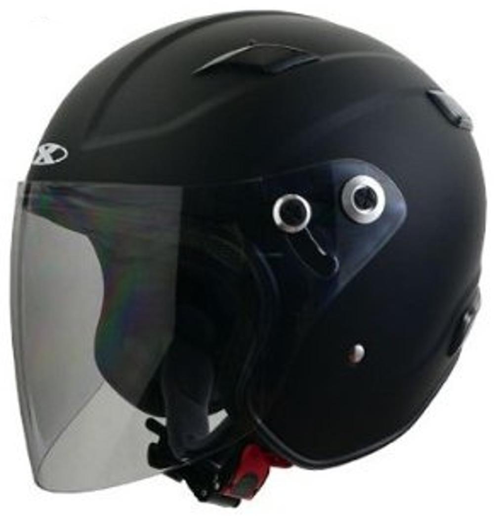 リード工業 ジェットヘルメット X-AIR RAZZO3 マットブラック Sサイズ (55-56cm未満)