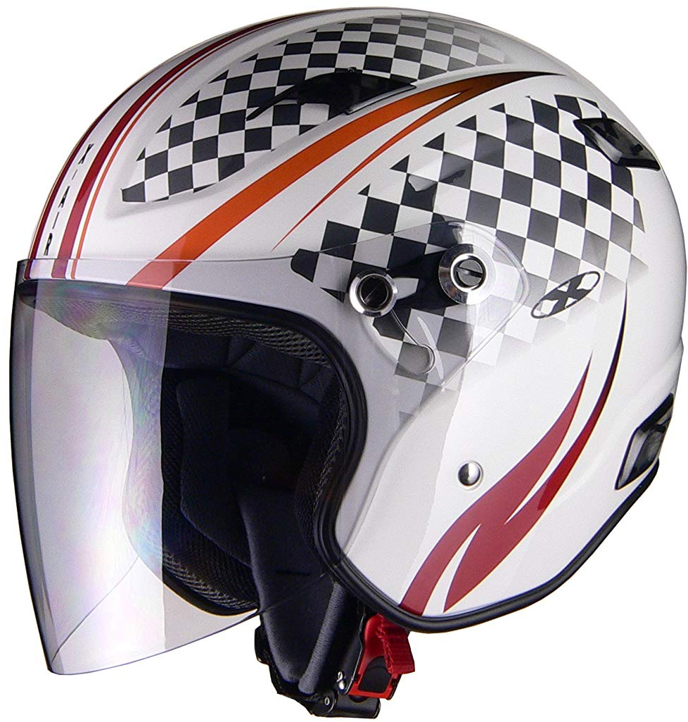 リード工業 ジェットヘルメット X-AIR RAZZO3 G1 ホワイト/スポーティ Sサイズ (55-56cm未満)