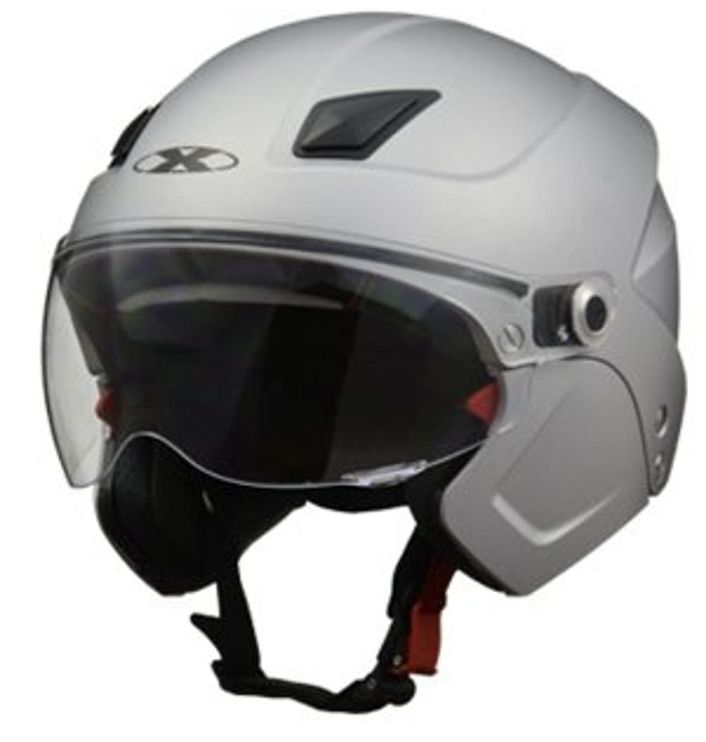 リード工業 システムヘルメット X-AIR SOLDAD マットシルバー 激安通販販売 57-60cm未満 フリーサイズ 日本産