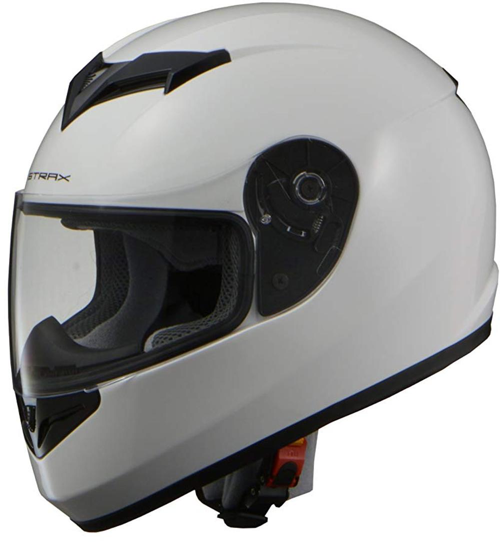 リード工業 フルフェイスヘルメット STRAX SF-12 ホワイト Mサイズ (57-58cm未満)