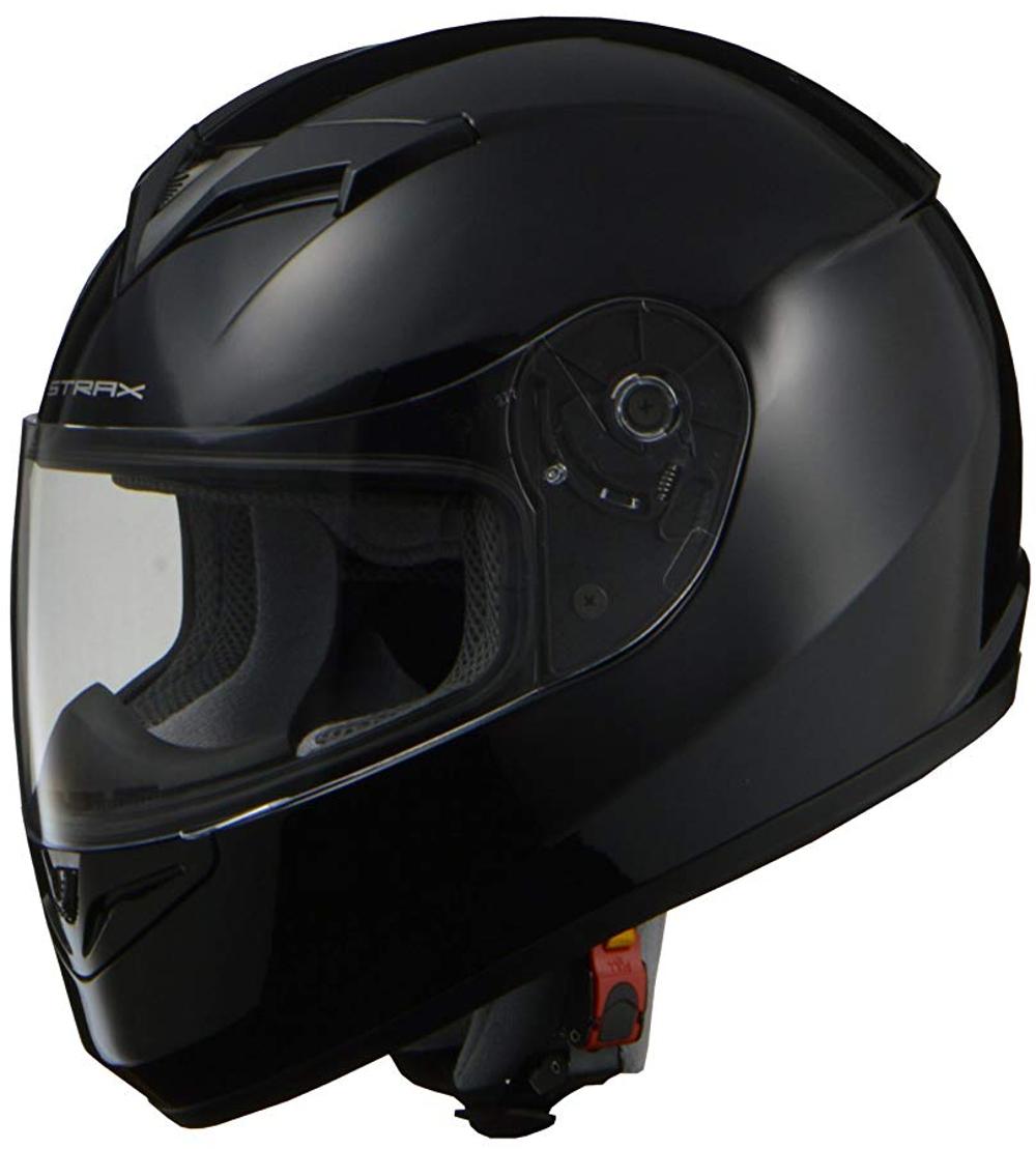 リード工業 フルフェイスヘルメット STRAX SF-12 ブラック Lサイズ (59-60cm未満)