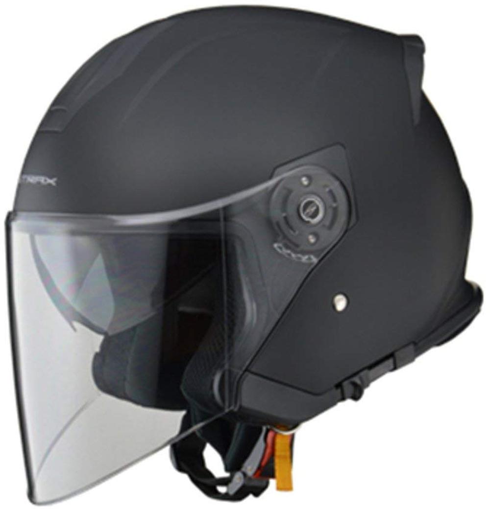 リード工業 ジェットヘルメット STRAX SJ-10 マットブラック フリーサイズ (57-60cm未満)