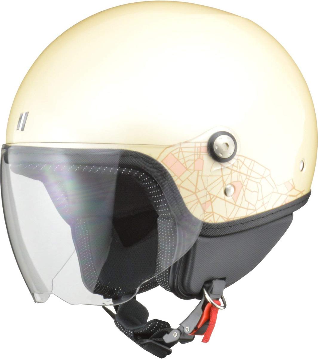 リード工業 ジェットヘルメット PALIO (パリオ) アイボリー レディースフリーサイズ (55-57cm未満)