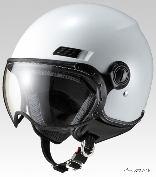 マルシン(Marushin) バイクヘルメット ジェット SAFIT MS-340 パールホワイト Lサイズ (59~60cm)