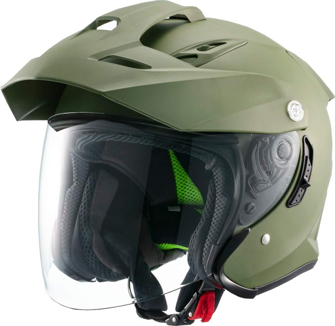 マルシン(MARUSHIN) バイクヘルメット スポーツ ジェット TE-1 マットカーキ Mサイズ MSJ1 1001624
