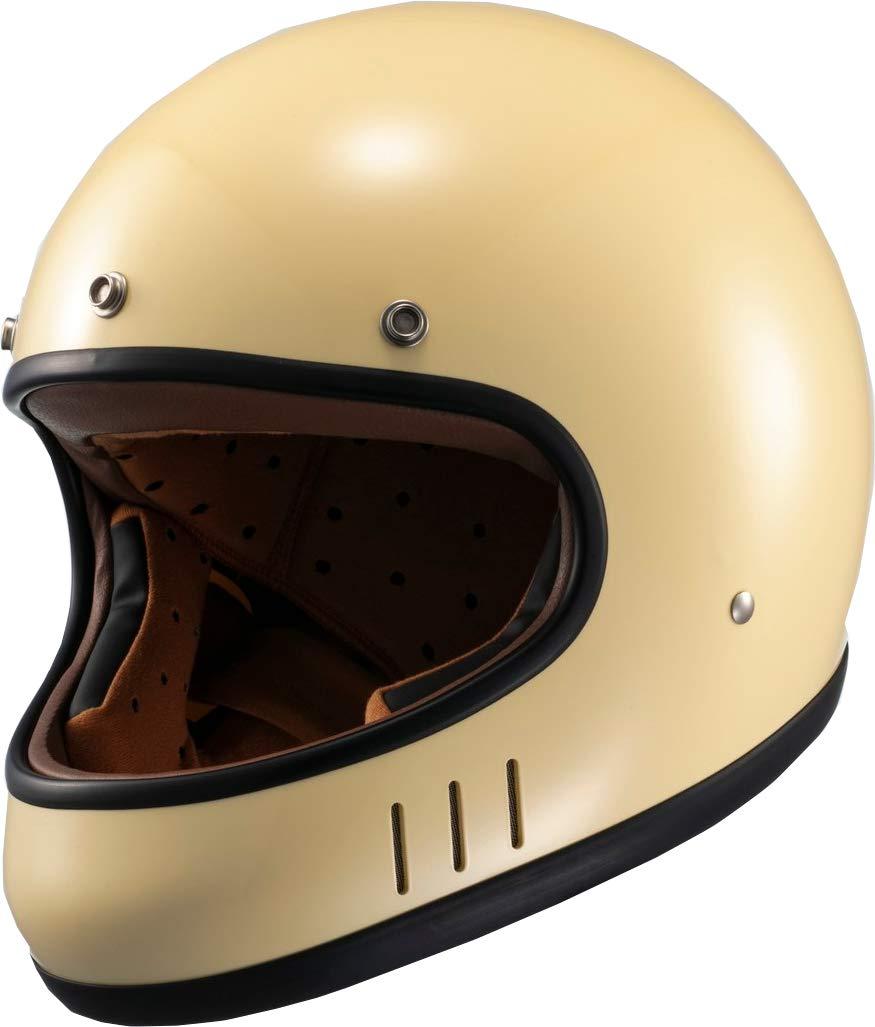 マルシン(MARUSHIN) バイクヘルメット ネオレトロ フルフェイス DRILL (ドリル) アイボリー Lサイズ MNF2 02002715