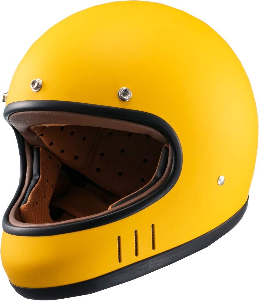 マルシン(MARUSHIN) バイクヘルメット ネオレトロ フルフェイス DRILL (ドリル) マスタードイエロー Lサイズ MNF2 02002925