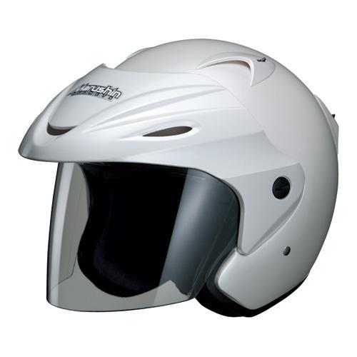 マルシン(Marushin) バイクヘルメット ジェット M-380 パールホワイト フリーサイズ (57~60cm)