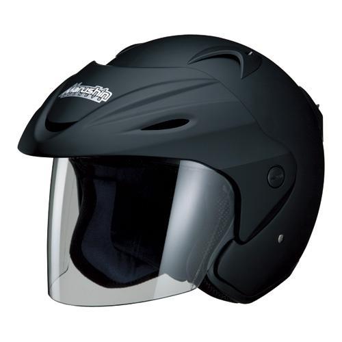 マルシン(Marushin) バイクヘルメット ジェット M-380 マットブラック フリーサイズ (57~60cm)