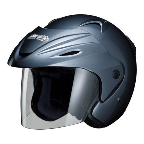 マルシン(Marushin) バイクヘルメット ジェット M-380 シャイニーグレー フリーサイズ (57~60cm)
