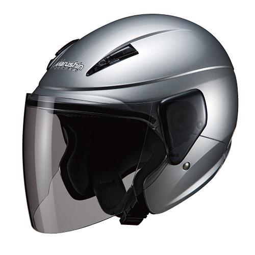 バイク スクーター ヘルメット セミ ジェット マルシン(Marushin) バイクヘルメット セミジェット M-520 シルバー フリーサイズ (57~60cm)