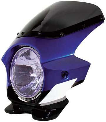 N PROJECT (Nプロジェクト) BLUSTER2 (ブラスター2) YAMAHA (ヤマハ) XJR1300 ディープパープリッシュブルーメタリックC (ストロボ) '01 エアロスクリーン 91079