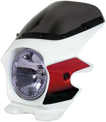 N PROJECT (Nプロジェクト) BLUSTER2 (ブラスター2) HONDA (ホンダ) CB1300SF -'02 パールフェイドレスホワイト / キャンディブレイジングレッド エアロスクリーン 93006