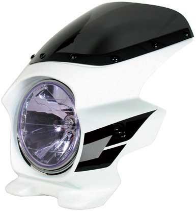 N PROJECT (Nプロジェクト) BLUSTER2 (ブラスター2) HONDA (ホンダ) CB400SF H-V '05-'06 パールフェイドレスホワイト (ウイングライン) エアロスクリーン 93124