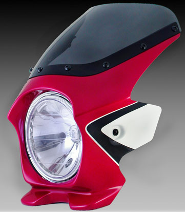 N PROJECT (Nプロジェクト) BLUSTER2 (ブラスター2) HONDA (ホンダ) CB400SF RV '08-'11 キャンディブレイジングレッド (ツートン) エアロスクリーン 93138