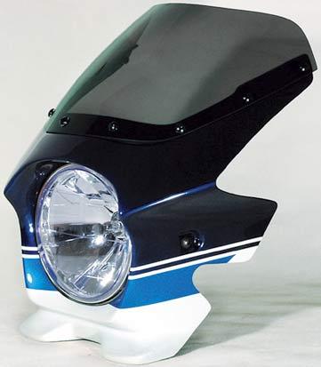 N PROJECT (Nプロジェクト) BLUSTER2 (ブラスター2) SUZUKI (スズキ) GSX1400 '05 スズキディープブルーNO.2 / グラススプラッシュホワイト エアロスクリーン 93230