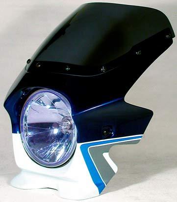N PROJECT (Nプロジェクト) BLUSTER2 (ブラスター2) SUZUKI (スズキ) GSX1400 '06 パールスズキディープブルーNO.2 / グラススプラッシュホワイト エアロスクリーン 93233