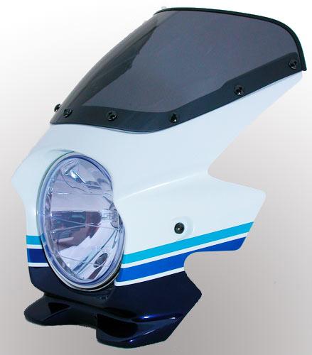 N PROJECT (Nプロジェクト) BLUSTER2 (ブラスター2) SUZUKI (スズキ) GSX1400 '08 Special Edition パールスズキディープブルーNO.2 / グラススプラッシュホワイト エアロスクリーン 93235