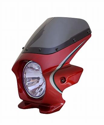 N PROJECT (Nプロジェクト) BLUSTER2 (ブラスター2) HONDA (ホンダ) CB1100 '14 キャンディーアリザリンレッド (ストライプ) エアロスクリーン 93416