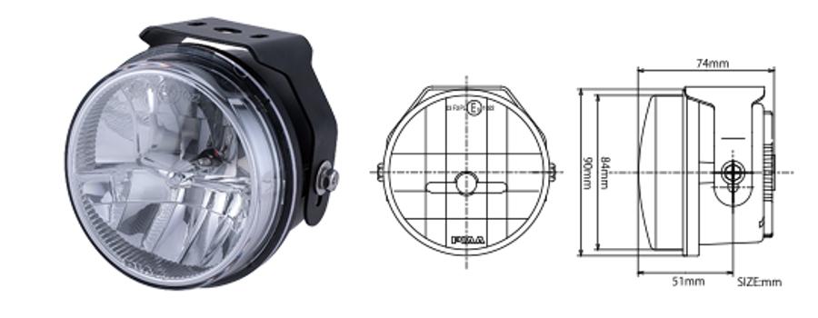 PIAA(ピア) MLSE1 XT250 LEDフォグライトKIT(LP530 SEROW専用オールインワン) 6000K