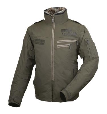 ROUGHROAD (ラフロード) バイク用 ウィンタージャケット フライトジャケット オリーブドラブ LLサイズ RR7683OD4