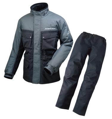 ROUGH&ROAD (ラフ&ロード) バイク用 ウィンタージャケット エキスパートウインタースーツ ガンメタ LLサイズ RR7688GM4