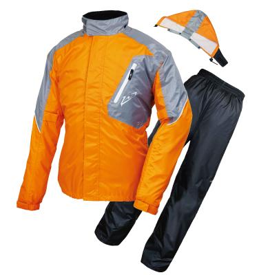 ROUGHROAD ラフロード バイク用 レインスーツ オレンジ 付与 BMサイズ 評価 デュアルテックスレインスーツ RR7808ORB2