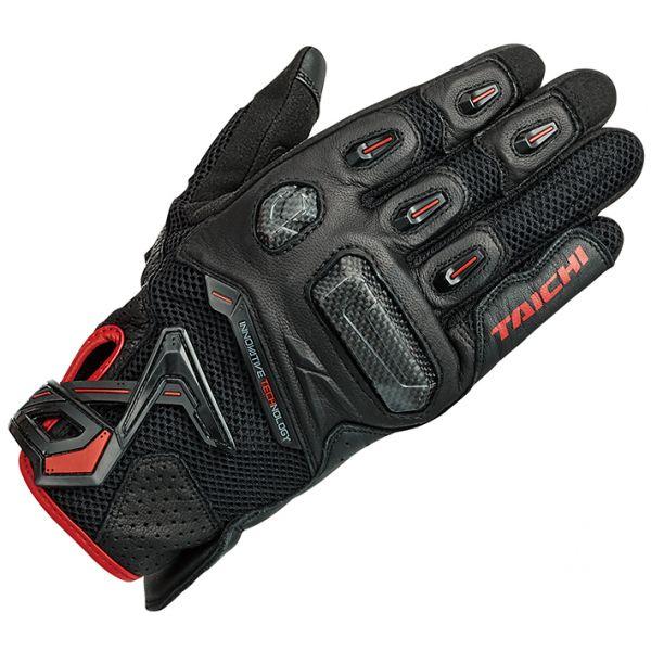 RSタイチ (RS TAICHI) バイク用 グローブ ラプター メッシュ グローブ BLACK/RED ブラック/レッド Lサイズ RST442BK02L