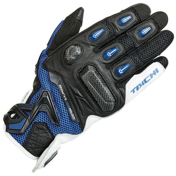 RSタイチ (RS TAICHI) バイク用 グローブ ラプター メッシュ グローブ WHITE/BLUE ホワイト/ブルー Sサイズ RST442WH01S