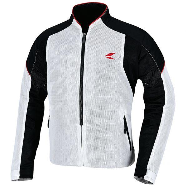 RSタイチ (RS TAICHI) バイク用 ジャケット クルー メッシュジャケット WHITE/BLACK ホワイト/ブラック Mサイズ RSJ317WH01M
