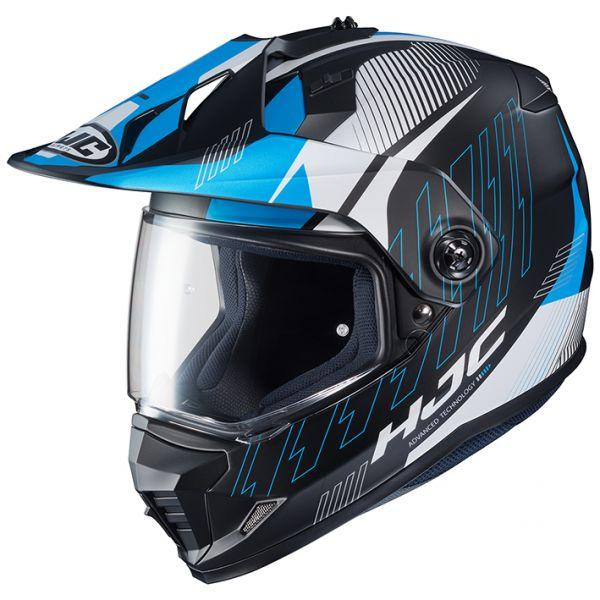 RSタイチ (RS TAICHI) バイク用 ヘルメット オフロード HJC DS-X1 グラビティ BLUE(MC2SF) XLサイズ HJH161BU01XL