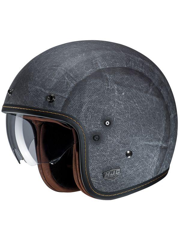 RSタイチ (RS TAICHI) バイク用 ヘルメット ジェット HJC FG-70S ヴィンテージ FLAT BLACK Lサイズ HJH167BK01l