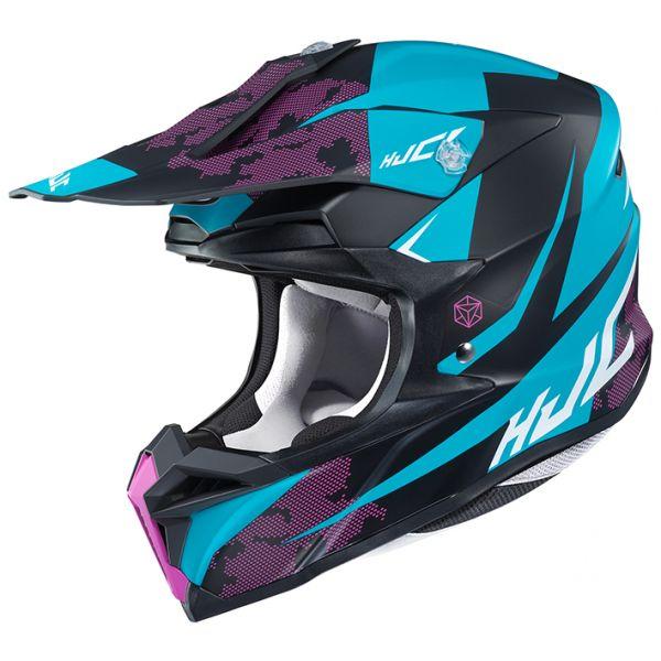 RSタイチ (RS TAICHI) バイク用 ヘルメット オフロード HJC i50 トナ BLUE(MC2SF) XL HJH178BU01XL