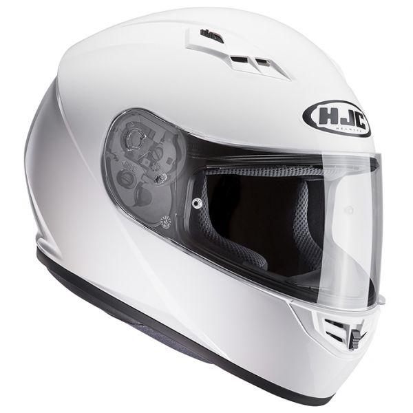 RSタイチ (RS TAICHI) バイク用 ヘルメット フルフェイス HJC CS-15 ソリッド WHITE Sサイズ HJH113WH01S